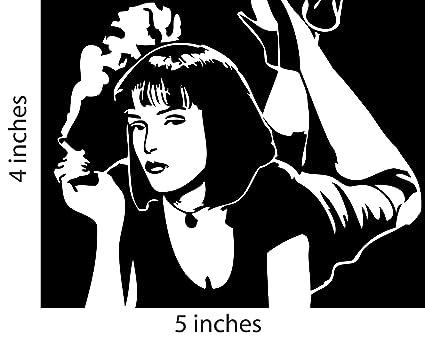 MIA WALLACE Sticker Cut Vinyl Decal Uma Thurman Pulp Fiction Tarantino