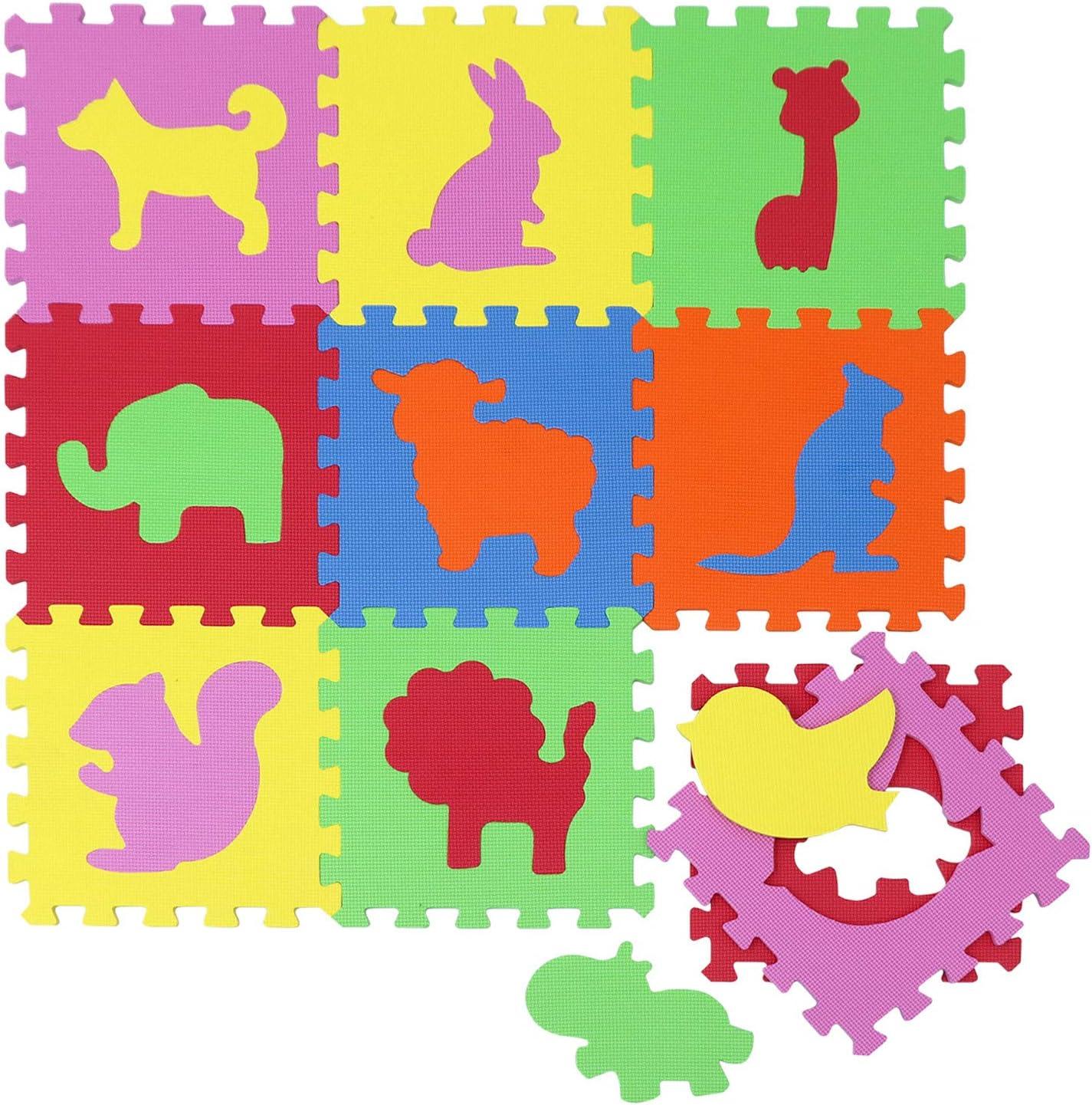 LittleTom Tapis de Jeu Doux pour B/éb/é Dalles Puzzle en Mousse Enfants Lettres