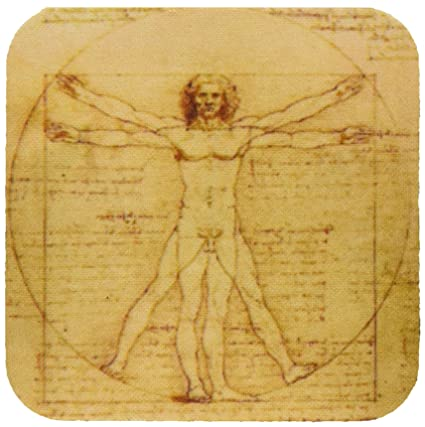 3dRose cst_155633_1 Vitruvian Man by Leonardo Da Vinci 1490-Fine ...