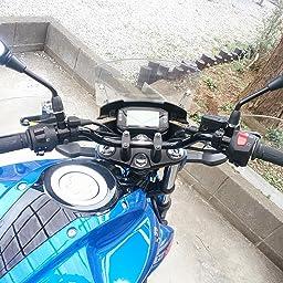 Amazon ハリケーン Hurricane ハンドルバー ヨーロピアン 1型 P7 8インチ ブラック Hb0009b 01 ハンドルバー 車 バイク