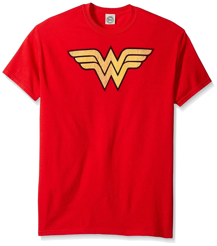 DC Comics Wonder Woman Logo Dist Adult T-Shirt Tee