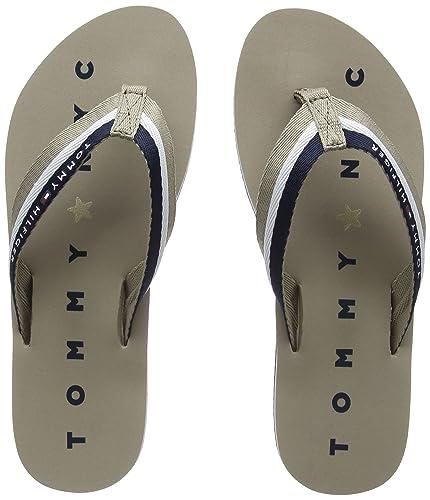 Hilfiger Denim Damen Glitter Beach Sandal Zehentrenner, Blau (Midnight 403), 41 EU