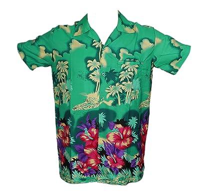 4355f0e19 Mens Hawaiian Shirt Stag Beach Hawaii Aloha Party Summer Holiday Fancy New  Palm (S,