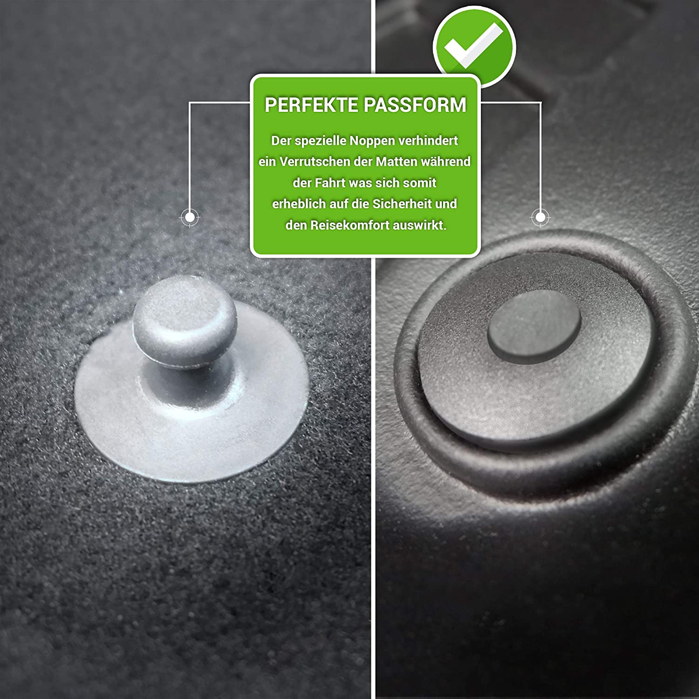 moto-MOLTICO 3D Gummimatten Auto Fu/ßmatten Gummi Automatten 4-teilig Set passend f/ür Toyota RAV4 V Hybrid ab 2018