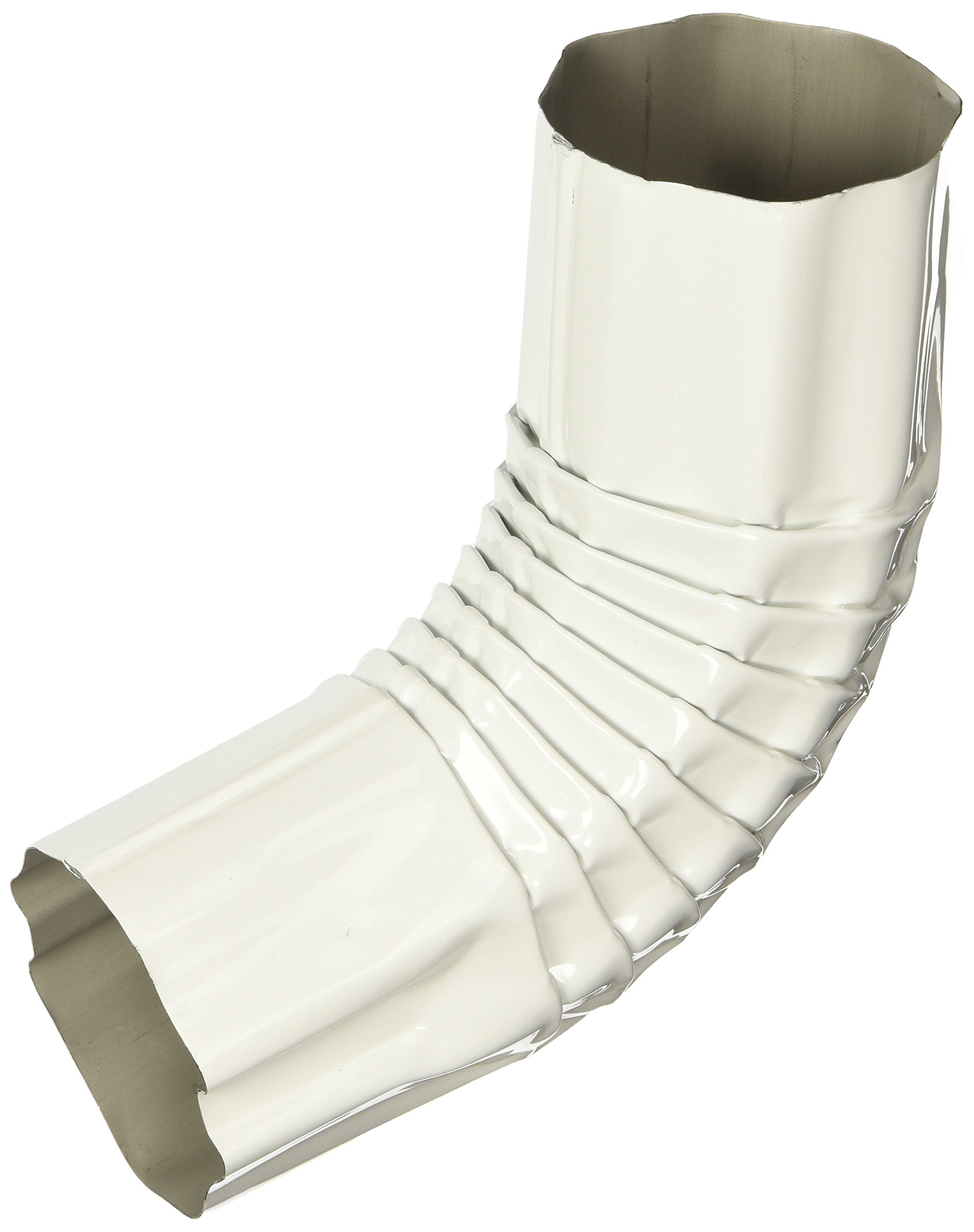 AMERIMAX HOME PRODUCTS 473741 3-Inch Round Aluminum Elbow, White