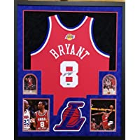 $5499 » Kobe Bryant Los Angeles Lakers Autograph Signed Custom Framed Jersey Authentic Mitchell & Ness Throwback Red All Star Game Suede Matted 4…