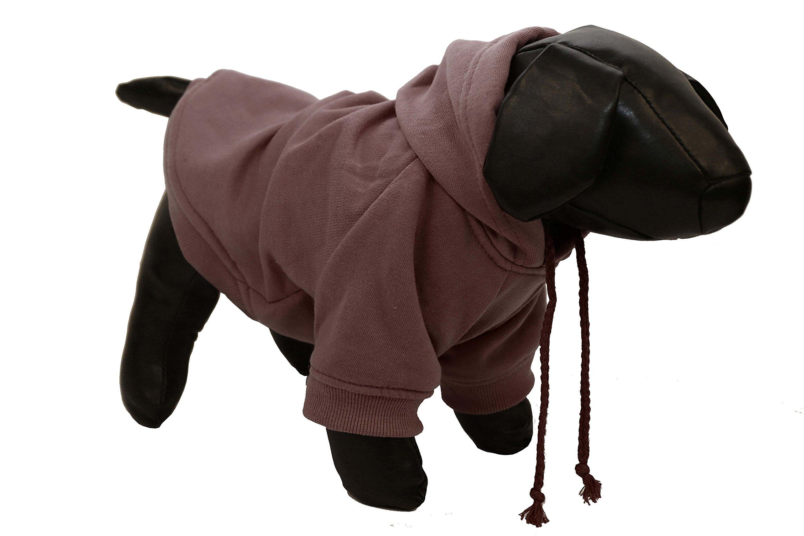 Pet Life American Classic' Designer Fashion Plush Cotton Pet Dog Hooded Sweater Hoodie, Medium, Brown
