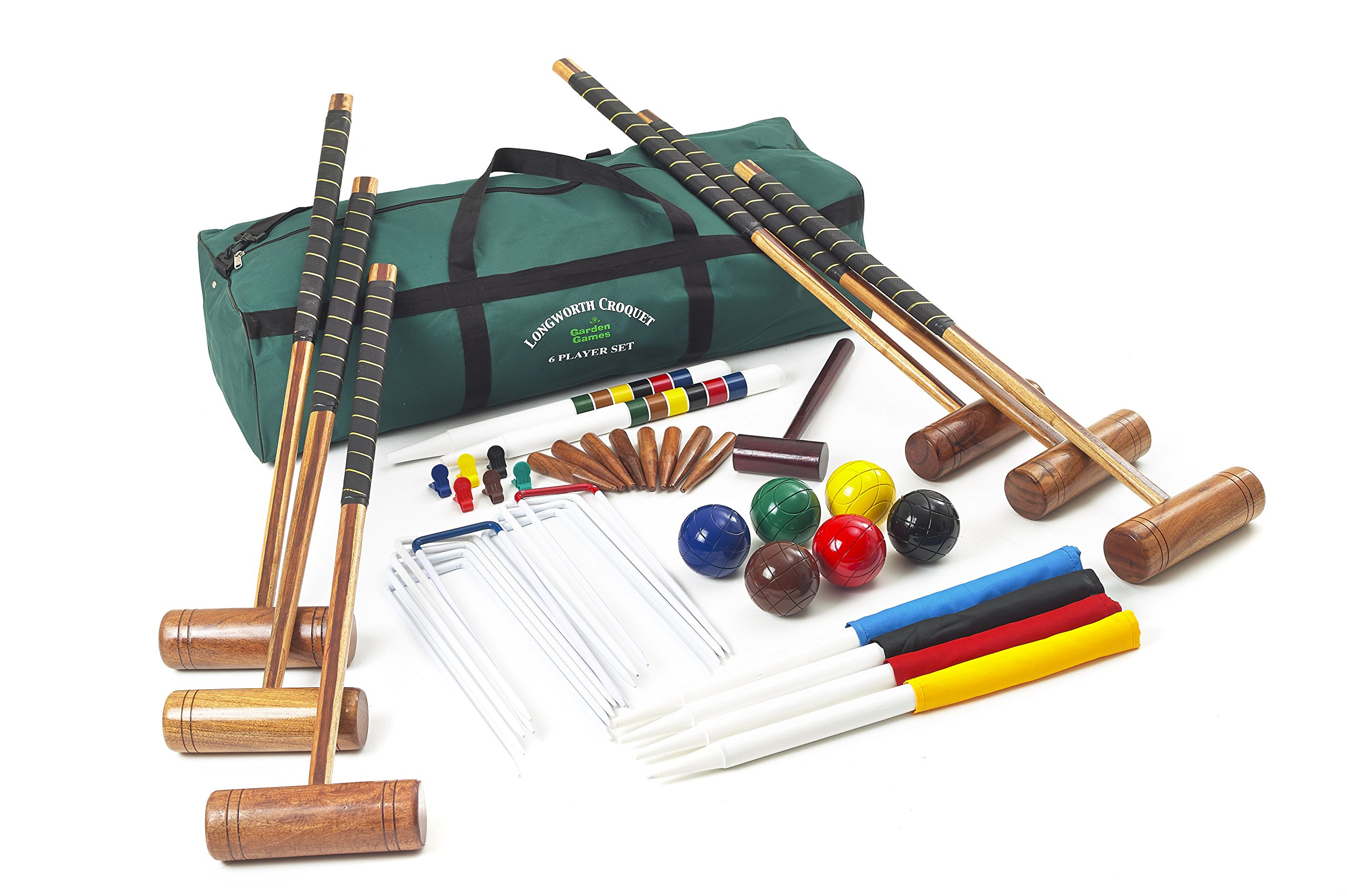 Longworth Croquet – 6 Player 9 Wicket Full Size Set by Garden Games