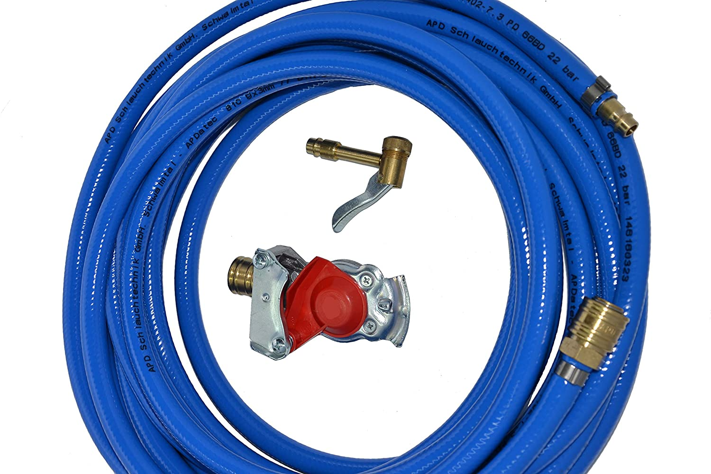 Kupplungskopf rot mit Druckluftschlauch 10m// 20m oder 30m Werkstattanschluss LKW