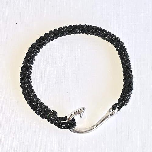 Outdoor Charms Fish Hook \u2013 Large Hook Him or Her Sterling Silver Fish Hook \u2013 Ocean Nautical Bracelet Hook Coiled Hook Fishing Barb