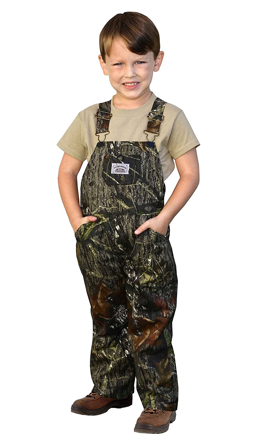Round House Little Boys Mossy Oak Camo Bib Overalls - Made in USA