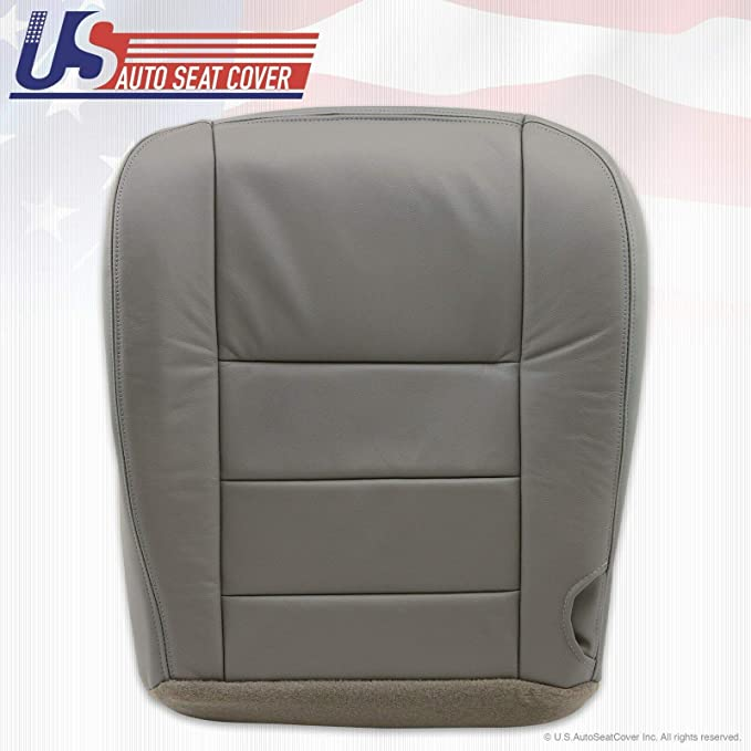 Gray 2003 2004 2005 2006 2007 Ford F250 F350 Lariat XLT Crew Cab Leather Seat Cover Replacement Driver Bottom, Medium Flint Leather Seat Cover for Ford F250 F350