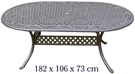 Tavoli Da Giardino In Alluminio Amazon.Tavolo Da Giardino In Alluminio Pressofuso Amazon It Giardino E