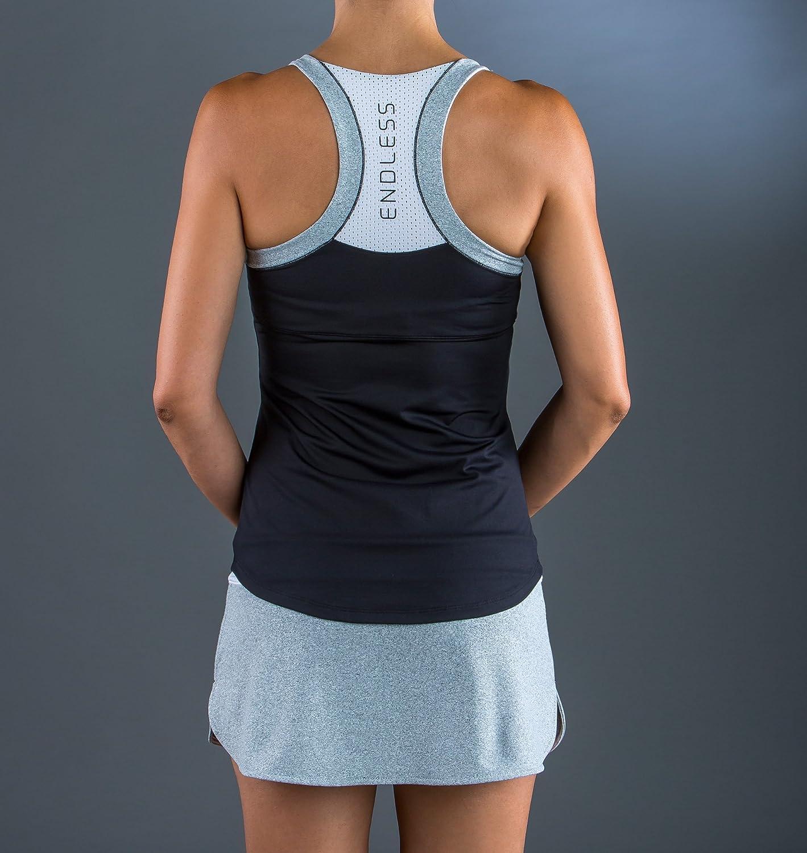 ENDLESS Cross Set de Tenis, Mujer, Negro, L