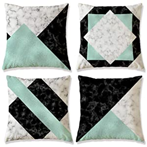 WOMHOPE Set of 4 Casual Flannelette Decorative Throw Pillow Covers Pillowslip Toss Cushion Pillow Cases 18 x 18 Inch for Living Room,Couch,Bed (Green) bed accessories - 8126ccw28HL - Bed Accessories – Top accessories for bed that every bedroom need