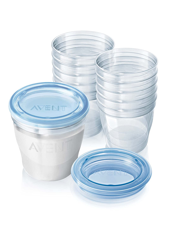Philips AVENT SCF61210 VIA Breast Milk Storage Cups Amazoncouk Baby
