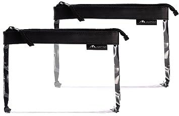 Alpamayo® juego de 2 neceseres transparentes para equipaje de mano en aviones, maletín de