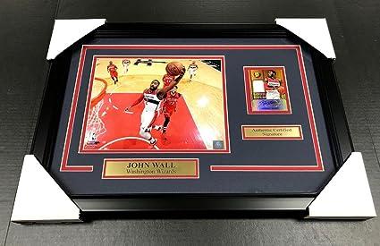 841de7e0a Autographed John Wall Photo - Card Framed 8x10 Panini - Panini Certified -  Autographed NBA Photos