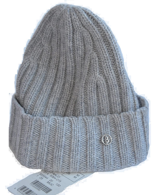 Bogner Mütze Wintermütze Modell: ARCO Material 100% Kaschmir Farbe: Grau Kopfbedeckung Strickmütze