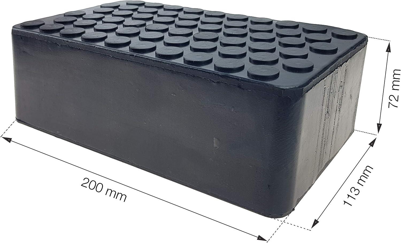 Stix Gummiauflage Gummiklotz 200x113x72mm Gummiblock Hebebühne Wagenheber Aufnahme Auto