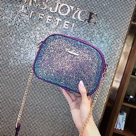BMKWSG Cartera de Mano para Mujer Azul Violeta: Amazon.es