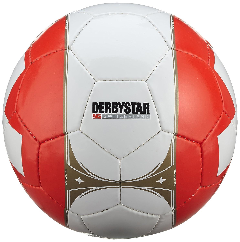 Derby Sstar Balón Oficial de Suiza Países Ball, Rojo/Blanco, 5 Derbystar 1505508000