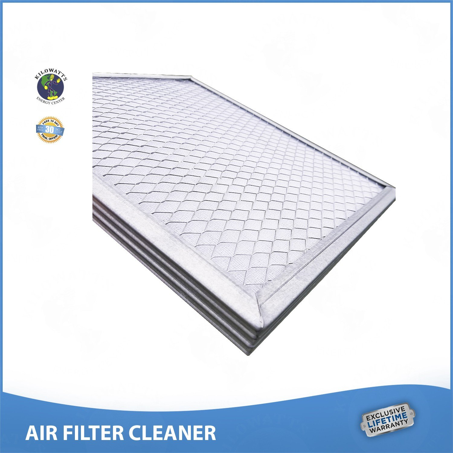 14x25x1 Lifetime Air Filter - Electrostatic Washable Permanent A/C Silver Steel Frame 65% more efficiency by Kilowatts Energy Center (Image #5)