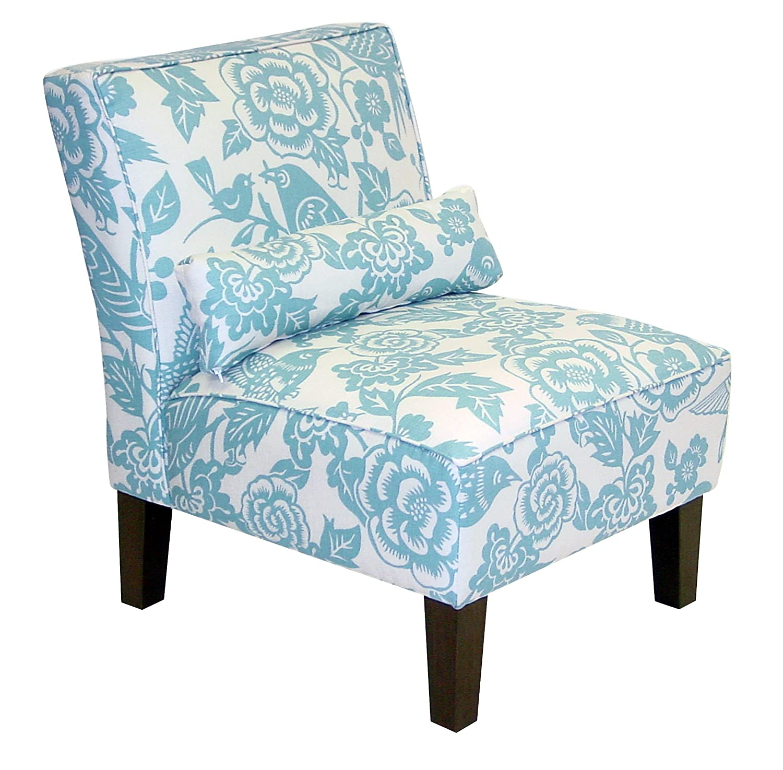 Amazon.com: Skyline Furniture Slipper Armless Chair In Canary Robinu0027s Egg:  Kitchen U0026 Dining