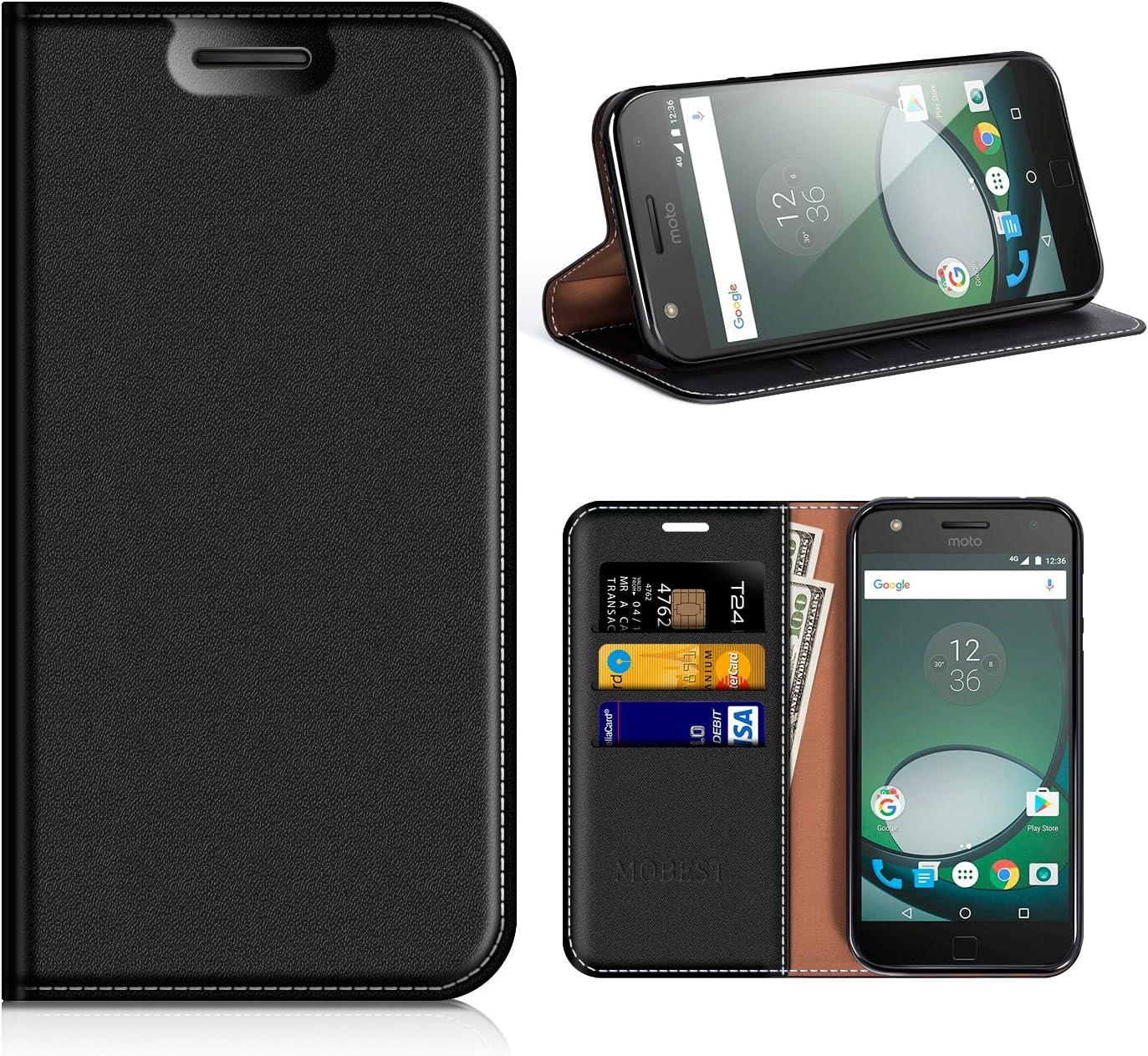 MOBESV Funda Motorola Moto Z Play, Funda Cuero, Carcasa en Libro, Ranuras para Tarjetas, Soporte para Motorola Moto Z Play: Amazon.es: Electrónica
