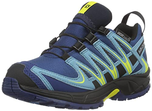 Salomon L37911000, Zapatillas de Trail Running para Niños, Azul (Midnight Blue Gum/Corona Yello), 37 EU: Amazon.es: Zapatos y complementos