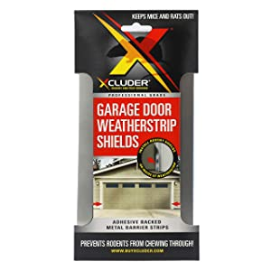 Xcluder Garage Door Rodent Shield, Stainless Steel, 1 Door Kit (Pack of 2), Keep Rats and Mice Out