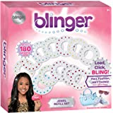 Blinger Jewel Refill Set - Includes 180 Gems in Multiple Shapes and Colors
