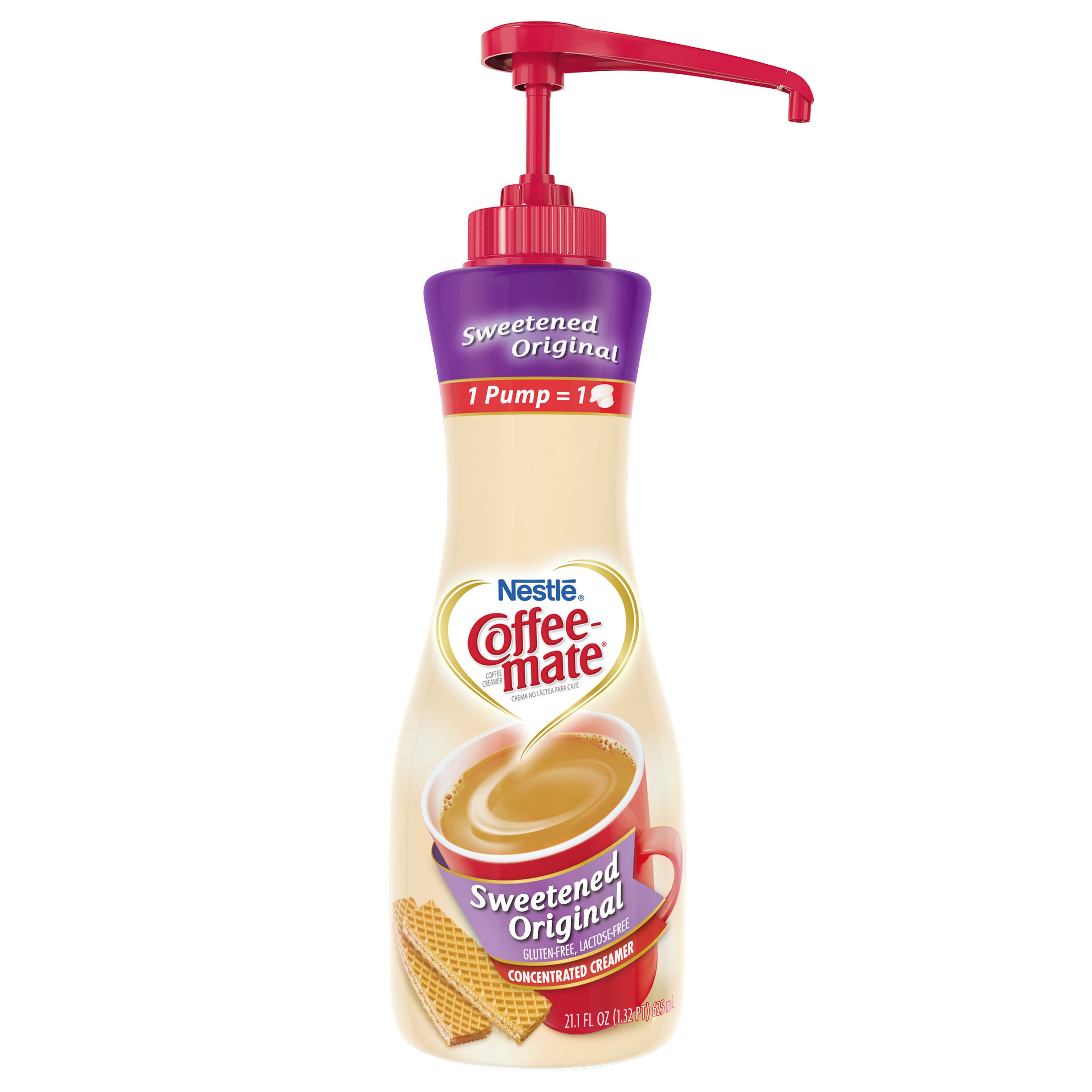Nestle Coffee-mate Coffee Creamer, Sweetened Original, 21.1 oz liquid pump bottle by Nestle Coffee Mate (Image #1)