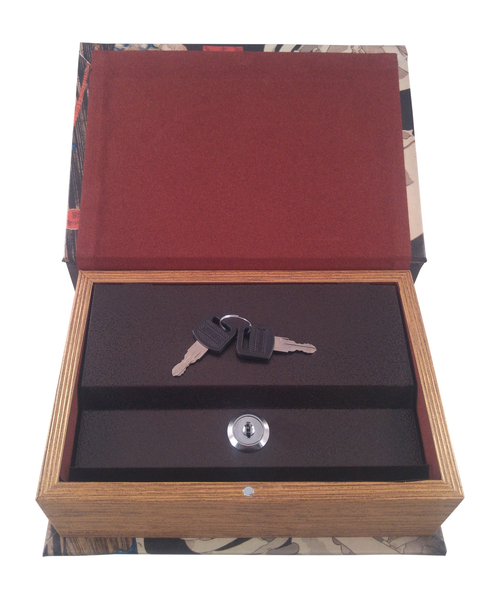 Lock and Key Book Box to Keep Items Hidden in Plain Sight - Book of the Dead Design