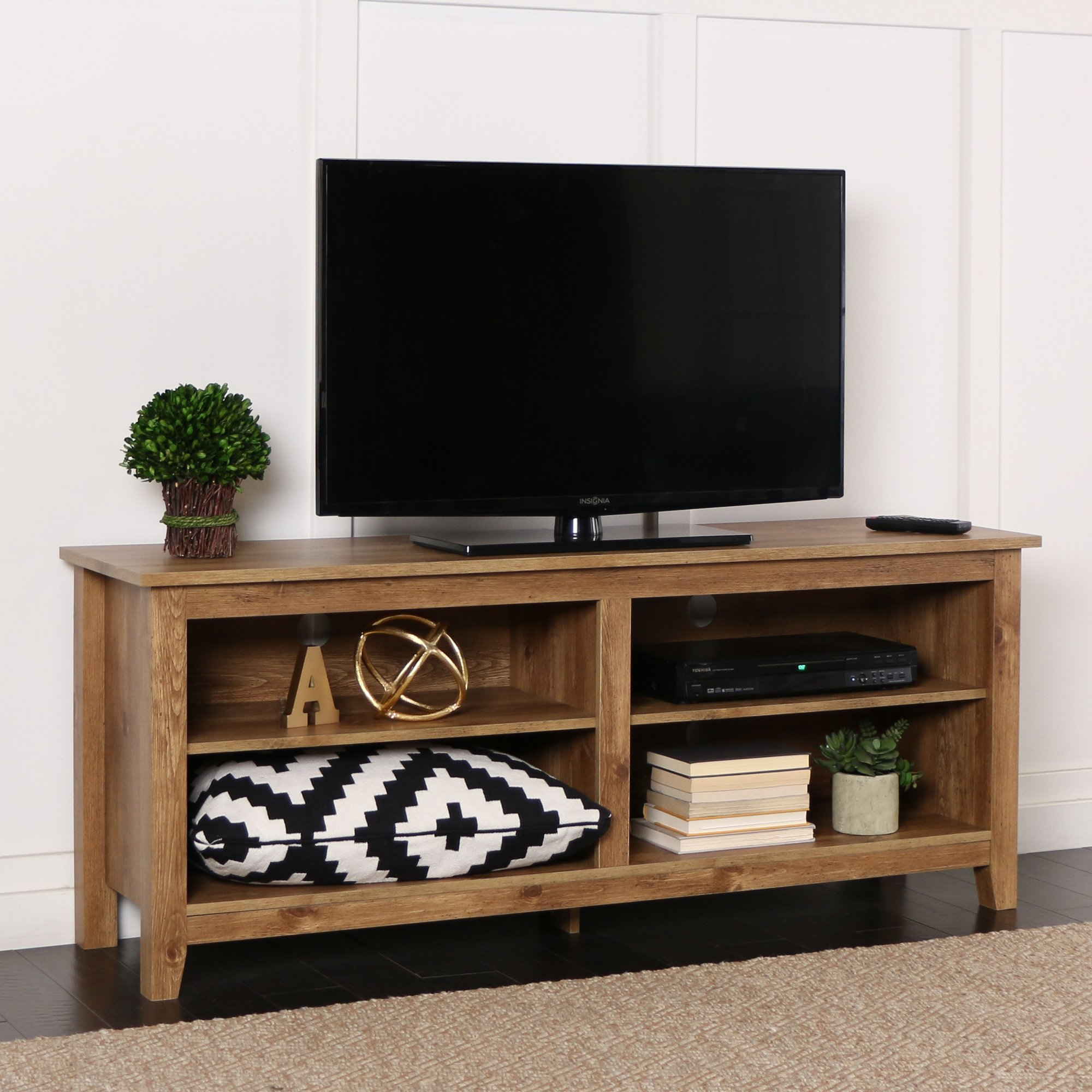 New 58 Inch Wide Barnwood Finish Television Stand by Home Accent Furnishings