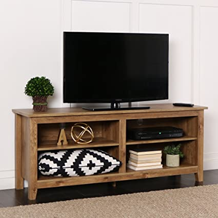 Tv Stand New Designs : Amazon.com: new 58 inch wide barnwood finish television stand