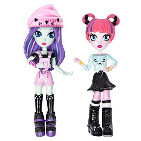 "Off the Hook Style BFFs, Brooklyn & Alexis (Concert), 4"" Small Dolls with Mix & Match Fashions & Accessories, for Girls Aged 5 & Up"