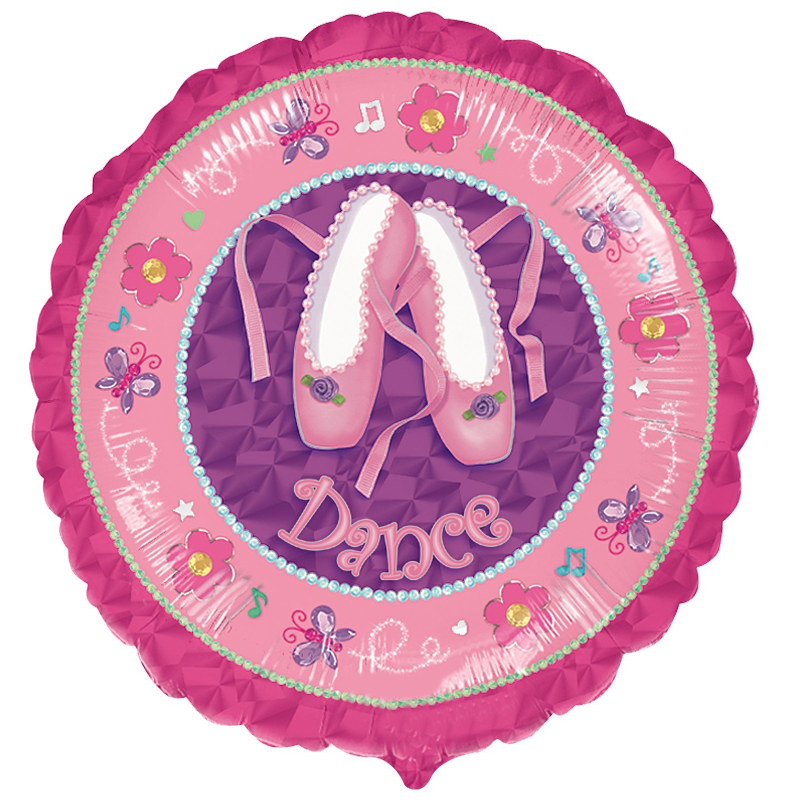 ''Dance'' Ballet Shoes 18'' Mylar Balloons Recital Ballerina Party by Anagram (Image #1)
