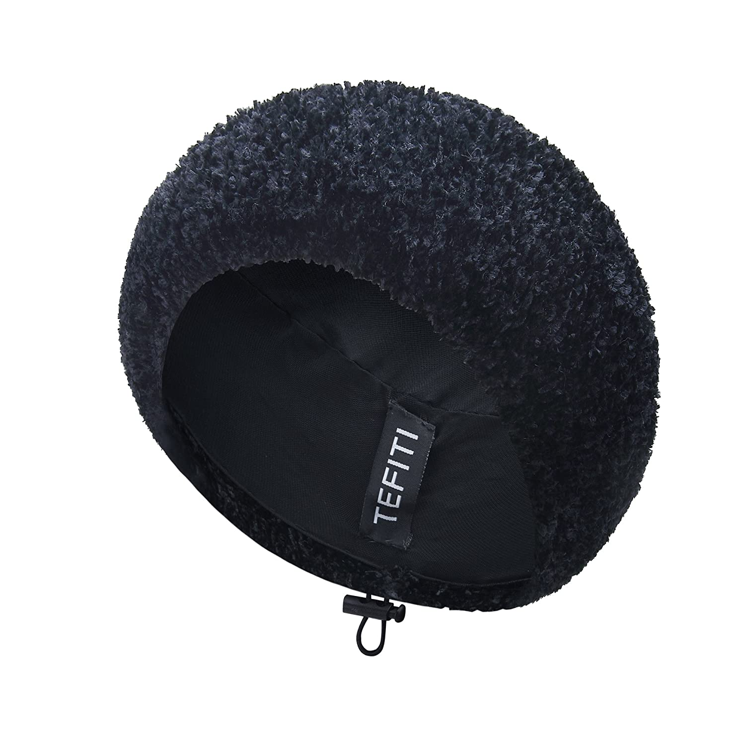 6b494d40 TEFITI Adjustable Chenille Snoods Lightweight Knit Beanie Hat Headcover for  Women (Black) at Amazon Women's Clothing store: