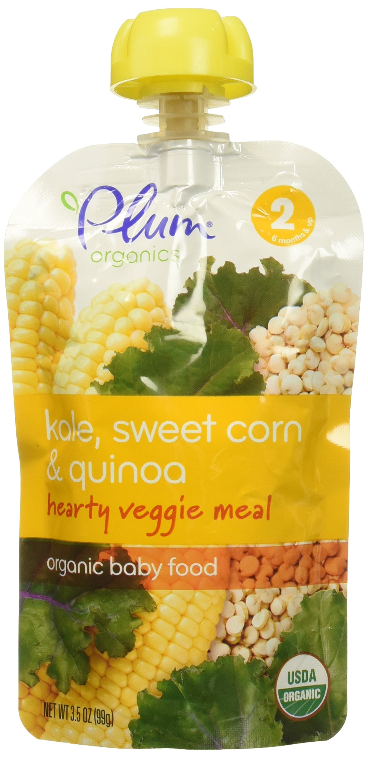 Plum Organics Corn, Kale, Carrot & Tomato Baby Food, 3.5 oz