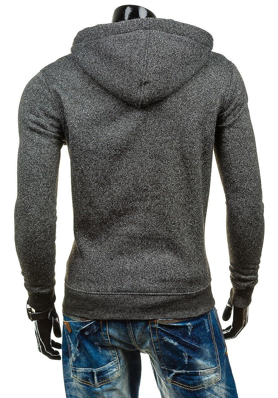 Mens Long Sleeve Zip-up Casual Fashion Fleece Hoodie Coat Sweatshirt Jacket