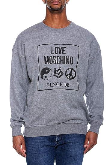Love Moschino Uomo Maglia Felpa Over Grigio Autunno Inverno Art M6506 06  M3875 B922 A18 (L)  Amazon.it  Abbigliamento 36d6f0bd50a