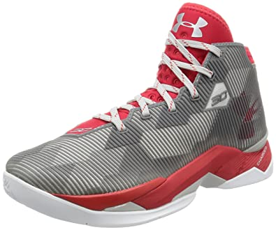 buy popular 7d3d7 d8523 Under Armour Men's UA Curry 2.5 Red/Aluminum/Red Athletic Shoe