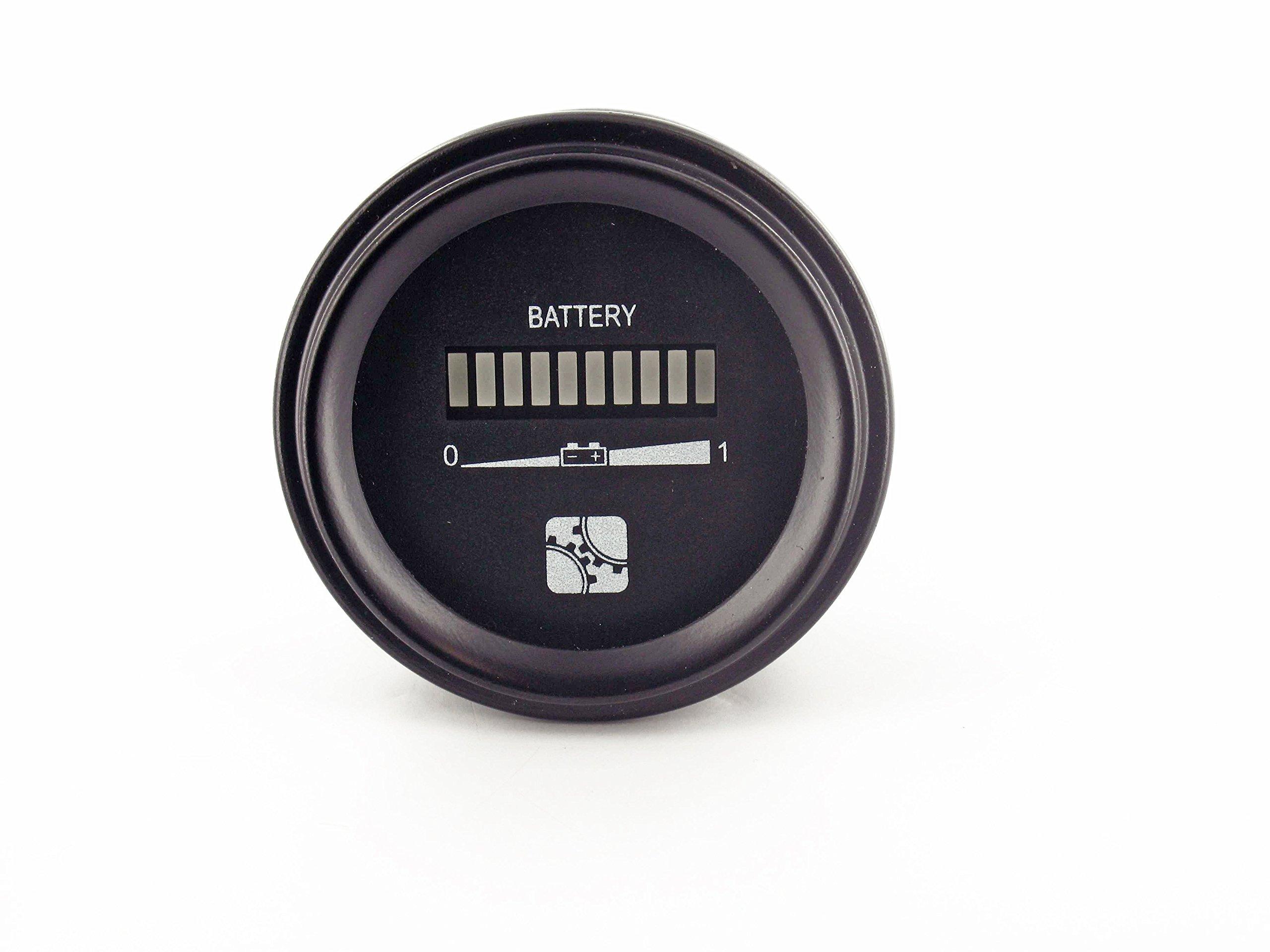 Intella Liftparts Inc. 03273024 Battery Indicator, Meter, Gauge, Golf Cart, Forklift, 24V