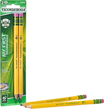 Pre-Sharpened Ticonderoga Wood-Cased Pencils 12 Count #2 HB Soft X13806 Yellow