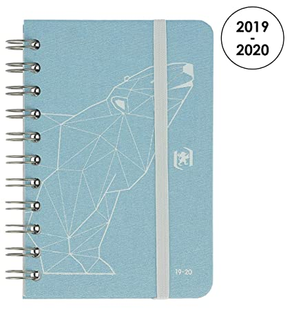 Oxford So Chic – Agenda escolar (semanal 2017 – 2018 1 semana por 2 páginas 160 páginas 10 x 15 cm azul rosetón