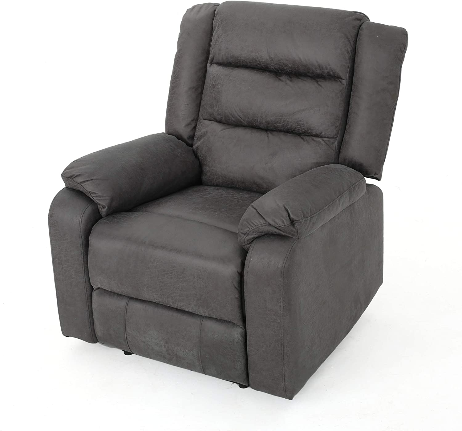 Christopher Knight Home Adrianne Cushioned Microfiber Power Recliner, Slate / Black