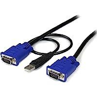 StarTech SVECONUS6 Cable KVM Ultra Delgado 2-en-1 VGA USB, HD15 Macho a Macho, 1.8m