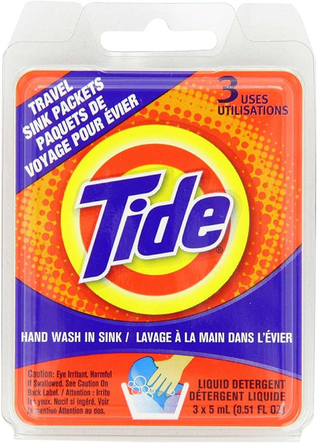 Tide Liquid on-the-go Detergent Travel Sink Packets