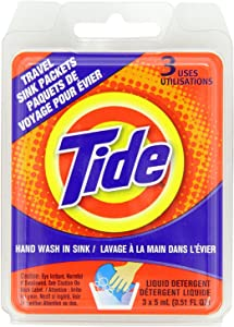 Tide Liquid Detergent Travel Sink Packets 3 ea (Pack of 10)